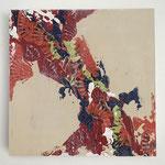 Ohne Titel, 2018, Acryl auf MFDF-Platte, 20 x 20 x 3 cm