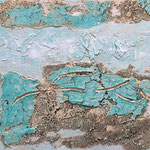 Sandmeer, 2015, Acryl, Strukturmasse, 40 x 40 x 2 cm
