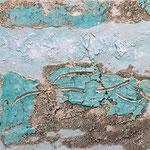 """Sandmeer"" - Acryl, Strukturmasse, 40 x 40 x 2 cm"