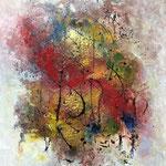 """Fest"" -  Acryl, Pigmente, Marmormehl, 8ß x 60 x 2 cm"