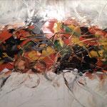 """Herbst"" -  Acryl, Spachteltechnik, 80 x 80 x 2 cm"