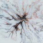 Ohne Titel, Acryl, Resin, Pouring auf MDF-Platte, 25 x 25 x 4 cm