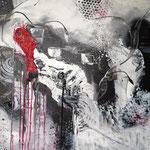 schwarz-weiss, 2014, Acryl, Spachteltechnik, 60 x 80 x 2 cm