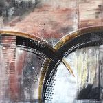 """""""Tunel"""" -  Acryl 80 x 80 x 2 cm"""