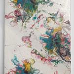 """Frühling"" -  Acryl, Pouring auf MDF-Platte, 30 x 18 x 3 cm"