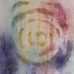 """""""Sommer"""" -  Acryl, Tusche, Mischtechnik, 85 x 85 x 4 cm"""