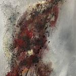Ohne Titel, 2015, Acryl, Pigmente, Strukturmasse, 70 x 50 x 4 cm