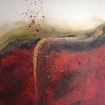 Vulkan, 2014, Acryl, 80 x 60 x 2 cm