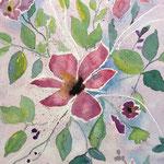 Clematis, 2015, Aquarell auf Papier, 32 x 24 cm