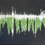 Ohne Titel, 2014, Acryl, Strukturmasse, 50 x 100 x 2 cm