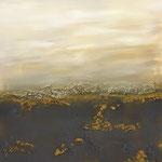 Afrikanische Horizont, Acryl, Mischtechnik, 75 x 75 x 4 cm