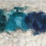 """Blau - Türkis"" -  Acryl, Pigmente, Strukturmasse, 70 x 90 x 2 cm"
