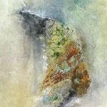 Ohne Titel, 2018, Acryl, Mischtechnik, 90 x 60 x 4 cm