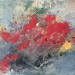 """Supernova"" -  Acryl, Beize, Strukturmasse, 40 x 140 x 4 cm"