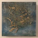 Ohne Titel, 2018, Acryl auf MDF-Platte, 20 x 20 x 3 cm