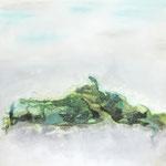 """Bewegung""  -  Acryl, Mischtechnik, 75 x 75 x 4 cm"