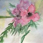 Blumen, Aquarell auf Papier, 24 x 32 cm