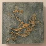 Ohne Titel, Acryl auf MDF-Platte, 20 x 20 x 3 cm