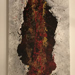 Lava, 2017, Acryl, Strukturmasse, 110 x 40 x 2 cm