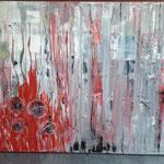 Feuer, 2014, Acryl, 70 x 100 x 4 cm
