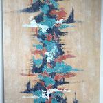 Asiatisch 2018, Acryl, 100 x 80 x 4 cm