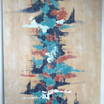 """""""Asiatisch""""  -   Acryl, 100 x 80 x 4 cm"""