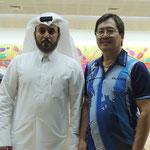 Engr. Oliver Fabros - 2nd Placer together with Mr. Bandar Al-Shafi, the Secretary General of Qatar Bowling Federation