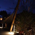 Hängematte bei Nacht