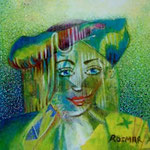 The actress principal  4.5 x 4.5 cm