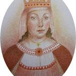 Leonor de  Castilla  8 x 6.5 cm