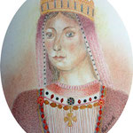 Violant of Hungary 8 x 6.5 cm