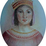 Eleanor of Aragon and Navarre 8 x 6.5 cm