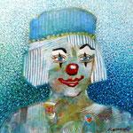 The Blue Clown 4.2 x 4.2 cm
