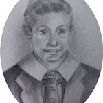 Emili Parejo (as a young boy) 6.5 x 5.5  cm