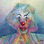 Feline clown  4.2 x 4.2 cm