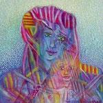 Catalan madonna and child  4 x 4 cm