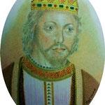 """Jaime I de Aragon """" el Conquistador""""  7 x 9 cm"""