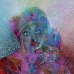 Madonna and child  4.2 x 4.2 cm