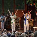 Solistin AnniFrid, Swedish Legend The ABBA Tribute - Show, Hembygdspark Ängelholm Schweden, Juni 2013