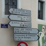 Panneau directionnel OT St Sever