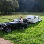 Unser Pantherfreund Andreas aus Alzey brachte seinen Campingwagen Modell: VATER_MUTTER-KIND mit nach Klingenberg