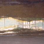 Landfest/festLand, Temperamalerei, 70 x 220 x 150 cm, 2001
