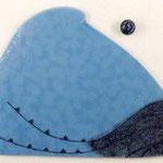 himmelblau/ sky blue, Glasmalstifte, Gummi d: 3 cm, Glas ca. 1 x 37 x 30 cm, 2000