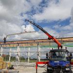 Hallenneubau: Dacheindeckung