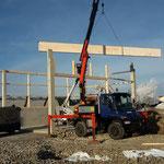 Neubau Lagerhalle: Während der Bauphase