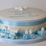 Nicola Knight Cakes - Christening Cake (boy)
