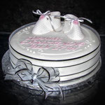Nicola Knight Cakes - Christening Cake (girl)