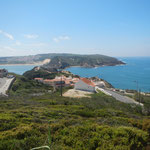 Hier öfnet sich die Bucht von Sao Martinho