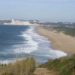 Salgado beach, nahe dem Ferienhaus die Atlantikküste Portugal