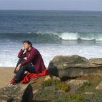Uraub im Winter, ein Spaziergang an der Küste vom Atlantik